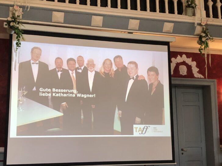 Mitgliederversammlung von TAFF am 25. Juli 2020. Ein Bild der Gründungsmitglieder von TAFF - und Gute Besserung an Katharina Wagner!