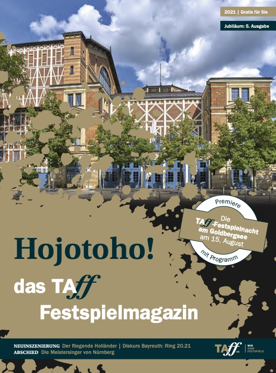 Das Titelbild von Hojotoho - das TAFF-Festspielmagazin 2021